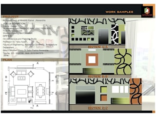 Apartment interior Design, Mostafa kamel, Alexandria: حديث  تنفيذ Doaa Gamal Studio, حداثي