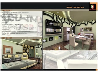 Apartment interior Design, Mostafa kamel, Alexandria من Doaa Gamal Studio حداثي