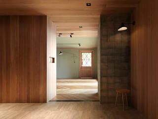 木耳生活藝術-室內設計/綠色的家 乡村风格的走廊,走廊和楼梯 根據 木耳生活藝術 鄉村風