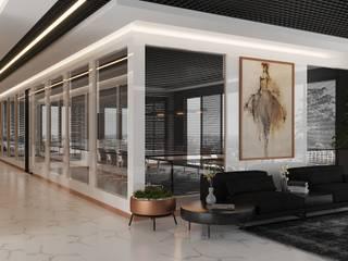 Mazze Ahşap Ofis Bölme Sistemleri – Cam Bölme Yerine Ahşap Ofis Bölme: modern tarz , Modern