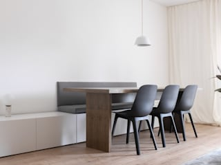 Telheiras Apartment Salas de jantar minimalistas por Lola Cwikowski Studio Minimalista