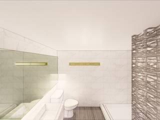 Diseño y construcción de baño en la Ciudad de México Baños minimalistas de Arqmando taller de arquitectura Minimalista