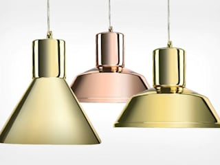 Industrial Luxury : Factory and Funnel Pendant Lamps new glass finishes van Mineheart Industrieel