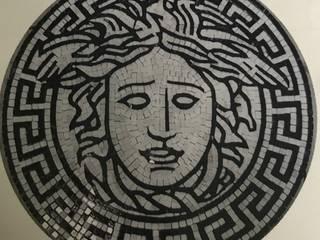 PAVIMENTI,GRECHE E ZERBINI in mosaico di marmo, opere Ferrari & Bacci realizzati dai migliori artigiani mosaicisti. Ferrari & Bacci snc ArteImmagini & Dipinti Marmo Variopinto