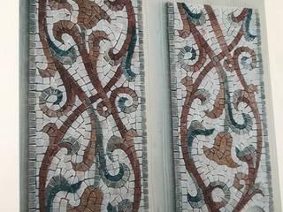 PAVIMENTI,GRECHE E ZERBINI in mosaico di marmo, opere Ferrari & Bacci realizzati dai migliori artigiani mosaicisti. Ferrari & Bacci snc ArteAltri oggetti d'arte Marmo Variopinto