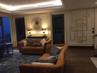 İç Mimarlık Ofisi Nou İç Mimarlık Ofisi Modern Oturma Odası Ahşap Beyaz