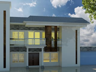 House Exterior Design by Kamalam Construction