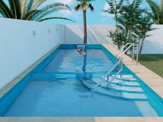 Piscina de nado contra corriente DIPROQUIM COLIMA Albercas de jardín Azulejos