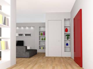 appartamento a sesto Soggiorno moderno di studio di progettazione architetto caterina martini Moderno