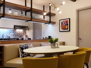 Mid Century Muse Modern dining room by Geraldine Oliva Modern