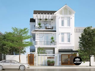Mẫu thiết kế biệt thự hiện đại 3 tầng mái thái đẹp tại Tphcm bởi NEOHouse