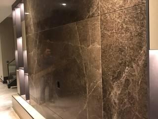 TV DUVAR MERMER ÜNİTESİ Modern Oturma Odası MAKRO STONE Modern