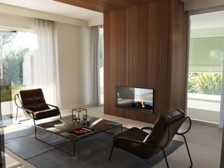 Villa Franciacorta Soggiorno moderno di ALMA Architettura   Mario Pan   Alessandro Pezzotti Moderno