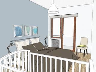 Casa al mare in blu tempesta di Arch. Sara Pizzo - Studio 1881 Moderno