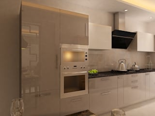 HC Designs Kitchen units Plywood Beige