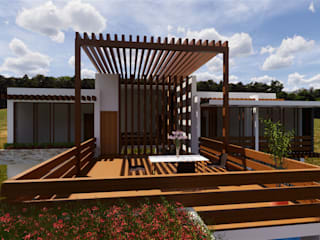 ROQA.7 ARQUITECTURA Y PAISAJE Rustikaler Balkon, Veranda & Terrasse