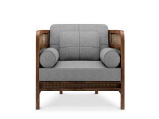 Crockford Armchair por WOOD TAILORS CLUB Rústico