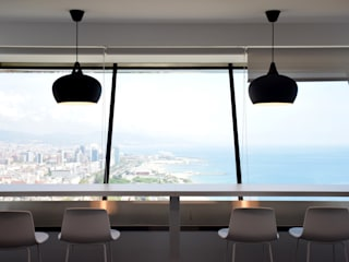 Puestos de trabajo esporádico Oficinas y tiendas de estilo moderno de ecoarquitectura Moderno