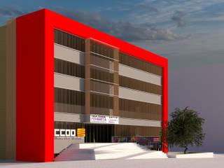 Sede CCOO Cornellà Edificios de oficinas de estilo minimalista de ecoarquitectura Minimalista