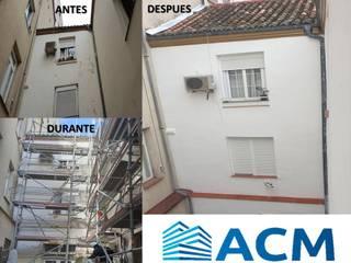Rehabilitación de fachada de revoco tradicional, cubierta de teja curva y patio en Madrid Rehabilitaciones Integrales ACM, S.L.
