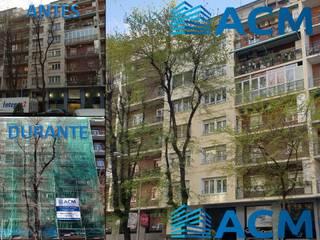 Rehabilitación de fachadas principal y posterior en Madrid Rehabilitaciones Integrales ACM, S.L.