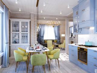 Дом из бруса 118,7 м² Кухня в классическом стиле от AREA² Дизайн интерьера Классический
