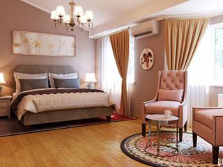 Таунхаус 45,8 м² Спальня в скандинавском стиле от AREA² Дизайн интерьера Скандинавский