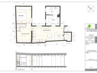 Rehabilitación de apartamento en edificio modernista. Centro de Barcelona Casas de estilo mediterráneo de MONAGHAN DESIGN SAS Mediterráneo