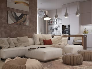 Eclectic style living room by Design Studio Details Eclectic