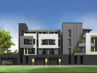 外觀設計/透視 現代房屋設計點子、靈感 & 圖片 根據 OWN DESIGN 現代風