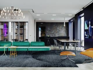 Апартаменты в Москве ЖК Пресня Сити Гостиная в стиле минимализм от Arch&Art Минимализм