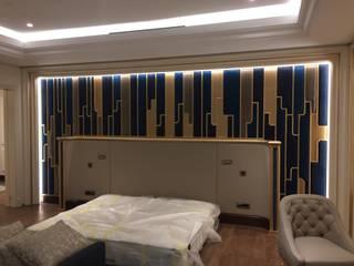 İç Mimarlık Ofisi Nou İç Mimarlık Ofisi Yatak OdasıYataklar & Yatak Başları Ahşap Beyaz