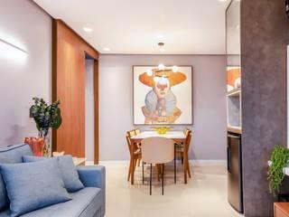 Ap DA Brisas '2019 Salas de estar modernas por Manuela Castro Arquitetura Moderno