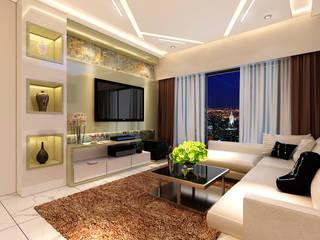 Malad 3BHK Modern living room by Designer Front Modern