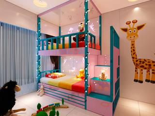 Malad 3BHK Modern style bedroom by Designer Front Modern
