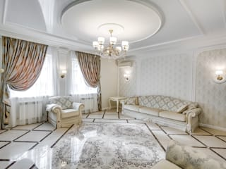 Новая жизнь дома Гостиные в эклектичном стиле от АрДиПроект Эклектичный