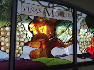 Vidrieras Artisticas VITREX C.B. Wine cellar Kaca Orange