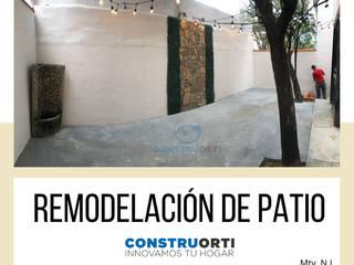 Remodelacion Patio Paredes y pisos de estilo rústico de CONSTRUORTI Rústico