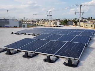 e21 : expertos solares Salones de eventos de estilo industrial