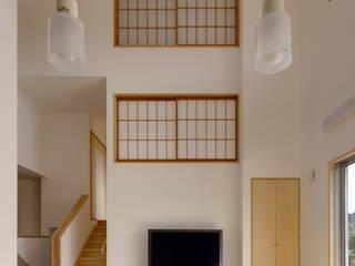 ひかりヶ丘の家 和風デザインの リビング の 有島忠男設計工房 和風