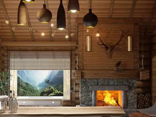 Salas de estar escandinavas por Architoria 3D Escandinavo