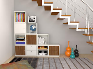 Arasta Design Study/officeCupboards & shelving Gỗ White
