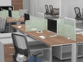 Oficina corporativa Dessa Muebles Oficinas de estilo moderno Compuestos de madera y plástico