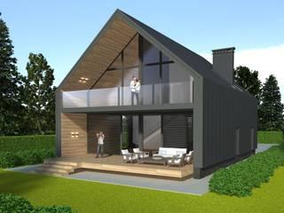 Гостевой дом Дома в стиле модерн от Архитектурная мастерская Генне Модерн