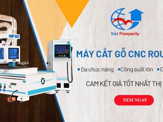 Máy CNC Router Vườn phong cách hiện đại bởi Máy chế biến gỗ công nghiệp Việt Hưng Hiện đại