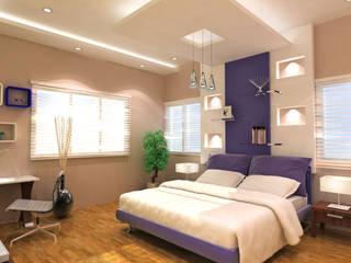Annanagar villa JAIHO INTERIORS - RESIDENCE & COMMERCIAL INTERIORS Modern style bedroom