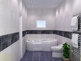 Annanagar villa JAIHO INTERIORS - RESIDENCE & COMMERCIAL INTERIORS Modern bathroom