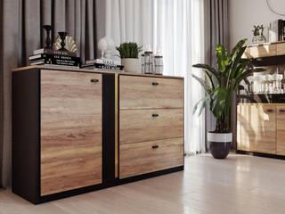 BELIZE - elegancja w nowoczesnym stylu Lenart Dig-Net SalonMeble do przechowywania Płyta wiórowa O efekcie drewna