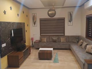 Jignesh Kumar Modern living room by 'A' DESIGN ASSOCIATES Modern