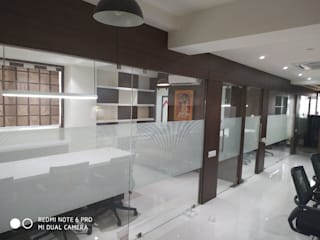 BHADRESHBHAI KHAMAR KEGAN(office interior) Modern offices & stores by 'A' DESIGN ASSOCIATES Modern